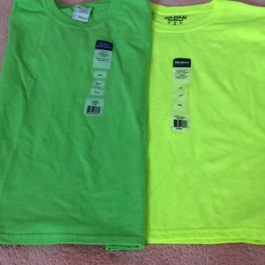 Gilman boys T shirts, safety colors, 10/12 NWT